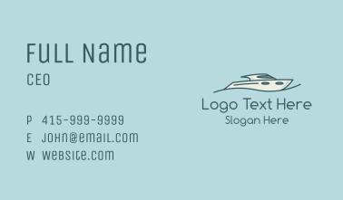 Wave Speedboat Business Card