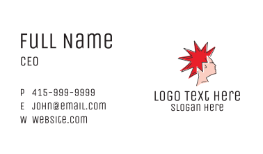 Spiky Mohawk Hairstyle  Business Card