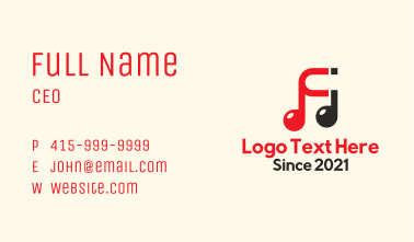 Music Note Magnet Business Card