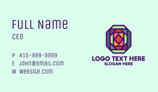 Colorful Kaleidoscope Business Card