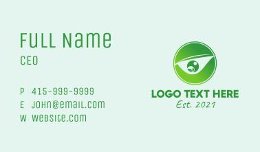 Green Eye Emblem  Business Card