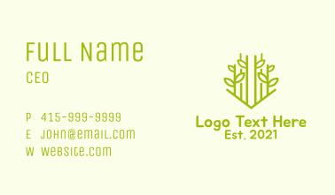 Green Bamboo Tree Business Card