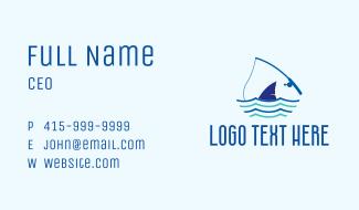 Marine Shark Fishing  Business Card