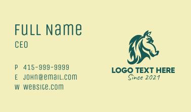 Equestrian Horse Head  Business Card