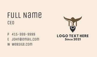Bull Warrior Mascot Business Card