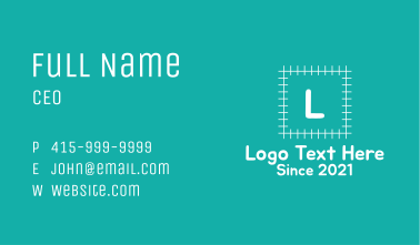 Early Learning Letter  Business Card
