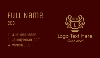 Coffee Shop Letter Business Card