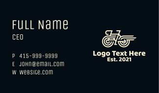 Fast Bicycle Business Card