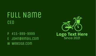 Plant Bike Delivery Business Card