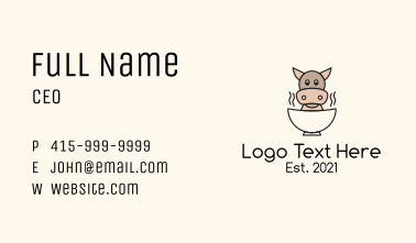 Beef Soup Mascot Business Card