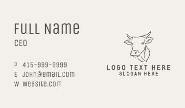 Cattle Line Art Business Card