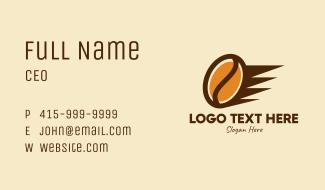 Fast Coffee Bean  Business Card