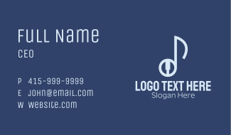 Musical Note Pianist Business Card
