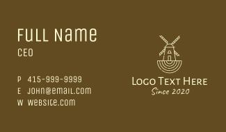 Rustic Farm Windmill Business Card