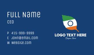 Indian Flag Leaf Business Card