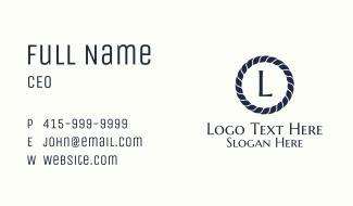 Minimalist Nautical Hotel Letter Business Card