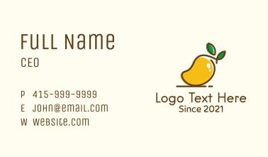 Ripe Mango Fruit Business Card