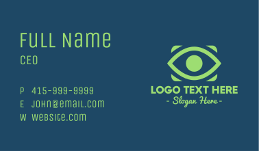 Green Eye  Business Card