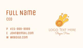 Orange Slice Juice  Business Card