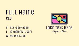 Mosaic Camera Lettermark Business Card