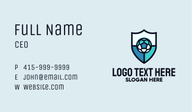 Soccer Ball Shield Business Card