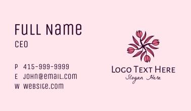 Tulip Flower Pattern Business Card