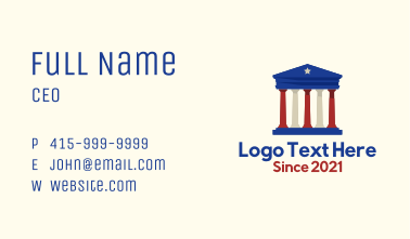 American Government Building Business Card