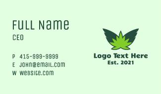 Flying Weed Leaf Business Card