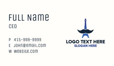 Moustache Eiffel Tower Business Card
