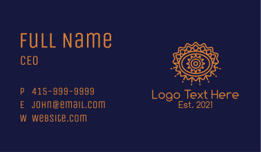 Tribal Floral Eye  Business Card
