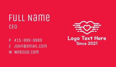 Aviary Love Heart Business Card