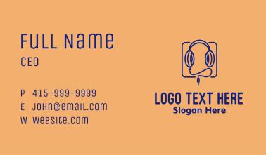Headphones Audio  Business Card