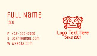 Ancient Mayan Skull Business Card