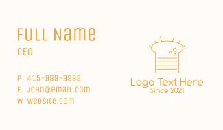 Orange Loaf Outline  Business Card