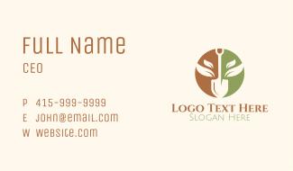 Shovel Farming Emblem Business Card