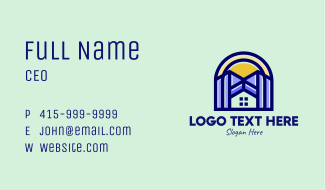 Urban Residential Property Business Card