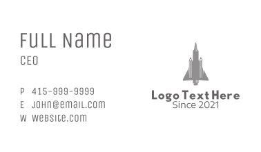 Pencil Fighter Jet  Business Card