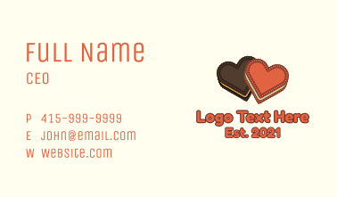 Heart Cookie Biscuit Business Card