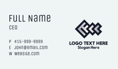 Geometric Fishbone Business Card