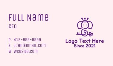Magical Elephant Crown Business Card