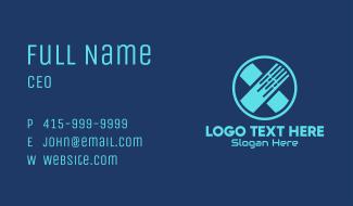 Blue Cross Bandage Business Card
