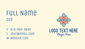 Multicolor Flower Business Card