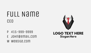 Fashionable Suit Tie Business Card