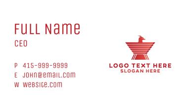 Red Bird Emblem Business Card