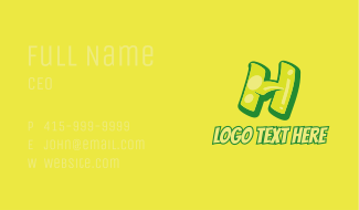 Graphic Gloss Letter H Business Card