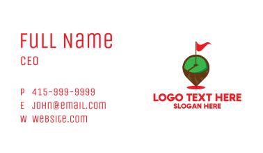 Golf Hole Flagstick Pin Business Card