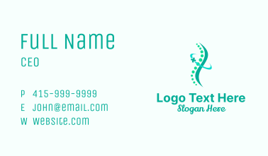 Abstract Chiropractic Healthcare Business Card