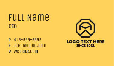 Construction Octagon Letter A Business Card