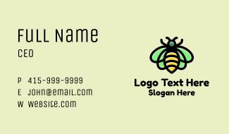 Monoline Honeybee Insect Business Card