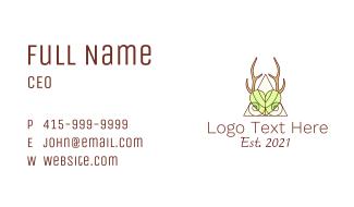 Elegant Nature Antler Business Card